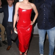 Lady Gaga in red leather